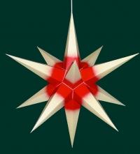 Haßlauer Weihnachtsstern chamois mit rotem Kern