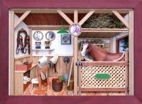 3D Bild Pferdestall lasiert