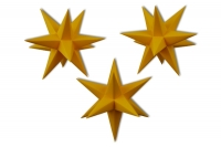 Marienberger Adventssterne - 3er Set (altgold)