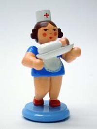 Miniaturfigur Krankenschwester mit Baby