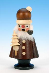 Räuchermann Weihnachtsmann klein natur
