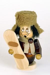 Ulbricht Räuchermann Miniwichtel Snowboarder
