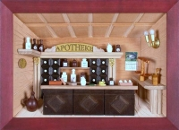 Dorsch 3D Holzbild Apotheke lasiert, 58 x 26 cm