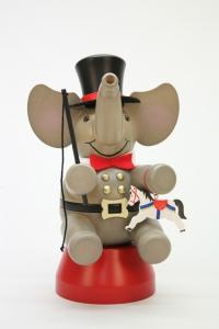Räuchermann Elefant Zirkusdirektor
