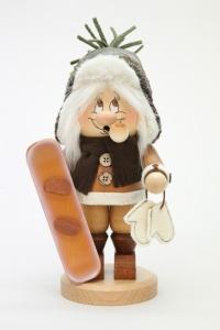 Räuchermann Wichtel Snowboarder