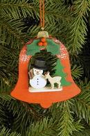 Ulbricht Baumbehang Glocke mit Schneemann