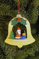 Ulbricht Baumbehang Glocke mit Weihnachtsmann