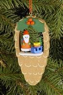 Ulbricht Baumbehang Zapfen mit Weihnachtsmann