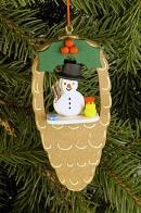 Ulbricht Baumbehang Zapfen mit Schneemann und Vogel