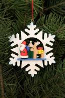 Ulbricht Baumbehang Schneeflocke Wackelmännchen mit Rentier