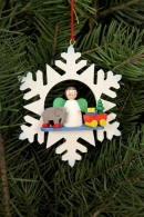 Ulbricht Baumbehang Schneeflocke Engel mit Spielzeug