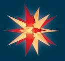 Annaberger Faltstern - rot-gelb, 58 cm
