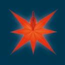 Annaberger Fensterstern flach - rot, Spitzen kurz/lang
