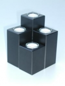 Teelichthalter 4er Set black