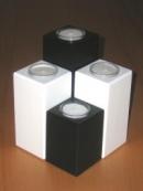 Teelichthalter 4er Set black and white