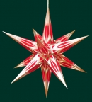 Haßlauer Weihnachtsstern rot/weiß mit Goldmuster - innen