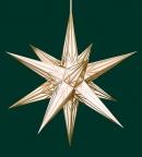 Haßlauer Weihnachtsstern weiß mit Goldmuster - innen