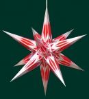 Haßlauer Weihnachtsstern rot/silber - innen