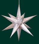 Haßlauer Weihnachtsstern weiß mit Silbermuster - innen