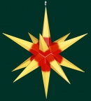 Haßlauer Weihnachtsstern gelb mit rotem Kern - außen