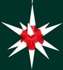 Haßlauer Weihnachtsstern weiß mit rotem Kern - außen