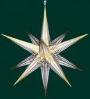 Haßlauer Weihnachtsstern weiß mit Goldmuster - außen