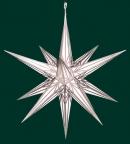 Haßlauer Weihnachtsstern weiß mit Silbermuster - außen