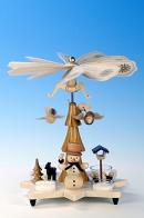 Ulbricht Teelichtpyramide Schneemann, natur