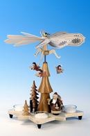 Ulbricht Teelichtpyramide Weihnachtsmann, natur
