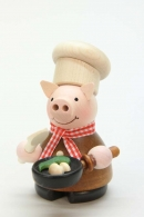 Ulbricht Räuchermann Glücksschweinchen Koch natur