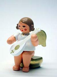 Engel sitzend mit Laute