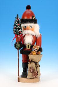 Nussknacker Weihnachtsmann mit Teddy