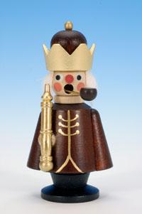 Räuchermann König klein natur