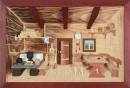 3D Bild Bauernstube lasiert