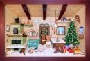 3D Bild Weihnachtsstube lasiert