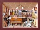 3D Bild Musikladen lasiert