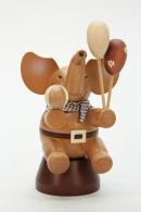 Christian Ulbricht Räuchermann Elefant mit Spielzeug natur
