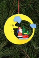 Christian Ulbricht Baumbehang Weihnachtsmann mit Schlitten im Mond