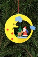 Christian Ulbricht Baumbehang Weihnachtsmann mit Bambi im Mond