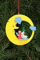 Christian Ulbricht Baumbehang Engel mit Spielzeug im Mond