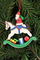 Christian Ulbricht Baumbehang Weihnachtsmann auf Schaukelpferd