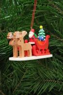 Christian Ulbricht Baumbehang Weihnachtsmann im Rentierschlitten